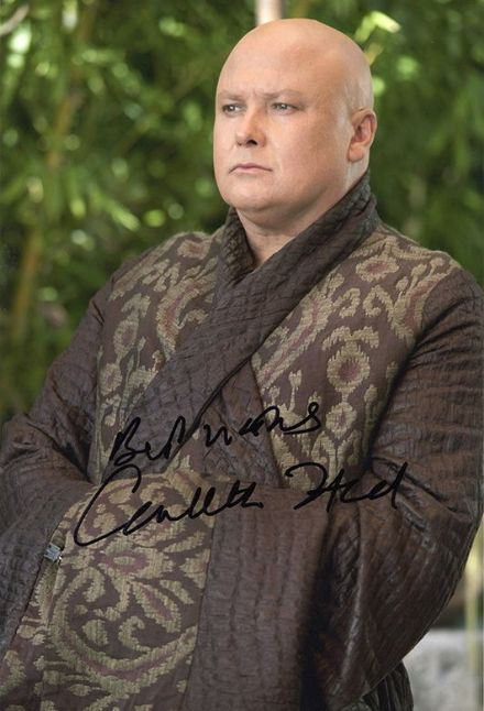 Conleth Hill, Lord Varys in Game of Thrones, signed 12x8 inch photo.